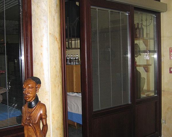 Puerta automatica madera