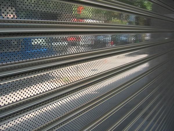 Persianas automáticas de acero inoxidable microperforadas