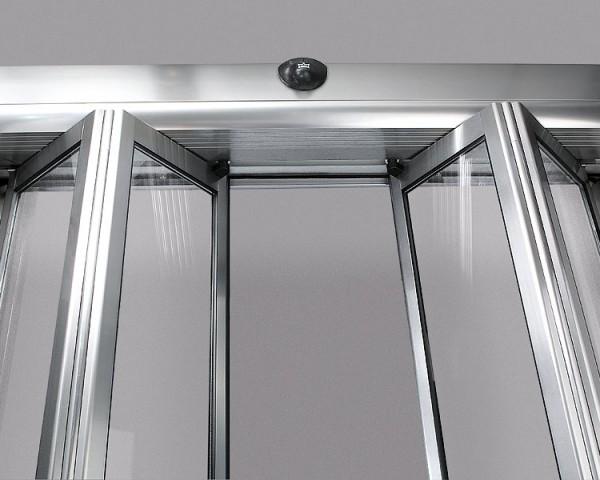 Puertas automáticas plegables de cristal