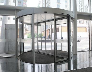 Puertas automáticas de cristal giratorias