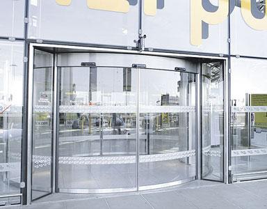 Puertas automáticas de cristal especiales